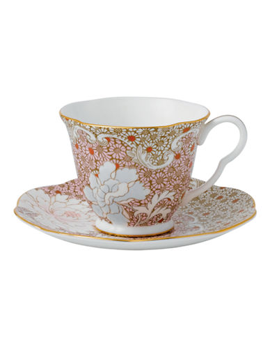Wedgwood Daisy Tea Story Collection Pink Teacup and Saucer-MULTI-One Size