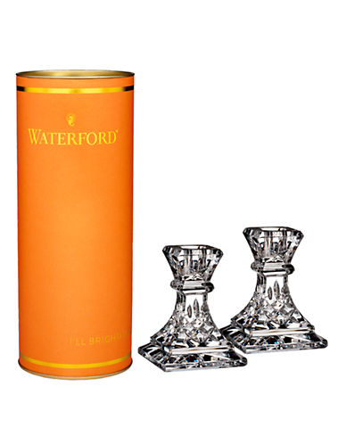 Waterford Wedgwood Giftology Lismore Candlestick Pair-CLEAR-One Size