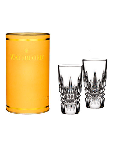 Waterford Wedgwood Giftology Lismore Diamond Shot Glass Pair-CLEAR-One Size