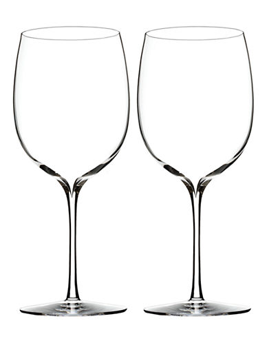 Waterford Wedgwood Elegance Bordeaux Wine Glass Pair-CLEAR-One Size