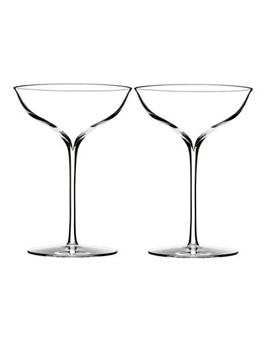 Waterford Wedgwood Elegance Champagne Belle Coupe Pair-CLEAR-One Size