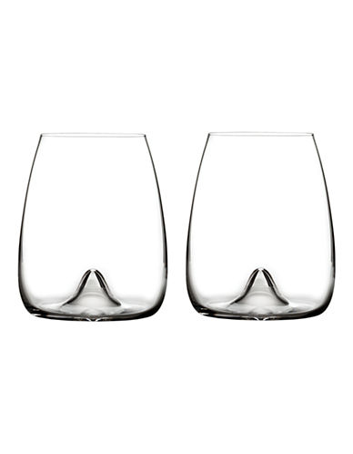 Waterford Wedgwood Elegance Stemless Wine Glass Pair-CLEAR-One Size