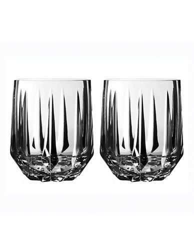 Vera Wang Set of 2 Vera Peplum Double Old Fashioned-CRYSTAL-One Size