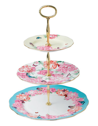 Royal Albert Miranda Kerr 3 Tier Cake Stand-MULTI COLOURED-Medium 86985158_MULTI COLOURED_Medium