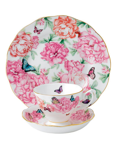 Royal Albert Miranda Kerr Gratitude Teacup Saucer and Plate Set-PINK-One Size 86985164_PINK_One Size