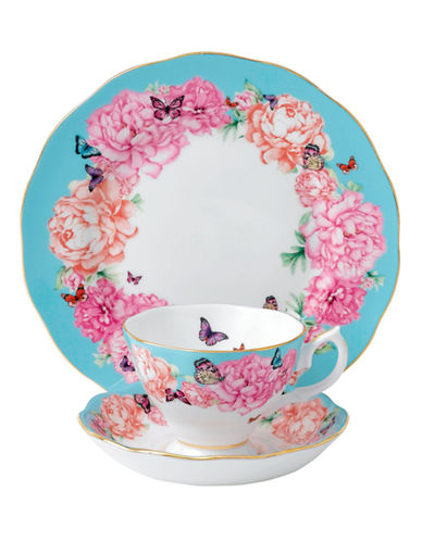 Royal Albert Miranda Kerr Devotion Teacup Saucer and Plate Set-TURQUOISE-One Size