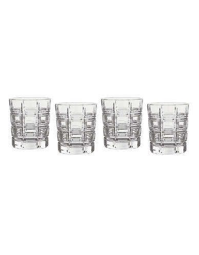 Waterford Wedgwood Marquis Crosby Barware Double Old Fashion Set of 4-CLEAR-One Size