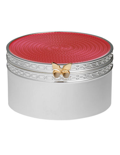 Vera Wang Treasures With Love Pink Butterfly Treasure Box-PINK-One Size
