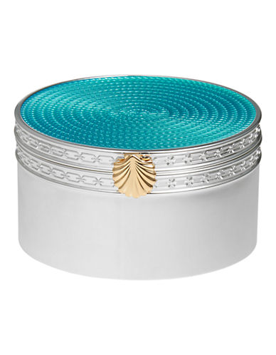 Vera Wang Wedgwood  Treasures with Love Aquamarine Seashell Treasure Box-AQUA-One Size