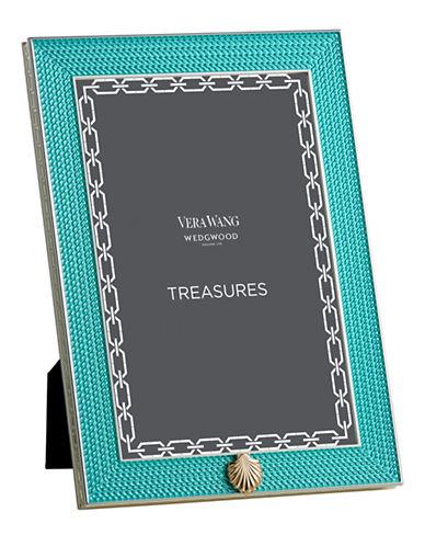 Vera Wang Treasures With Love Aquamarine Seashell 4x6 Frame-AQUA-One Size