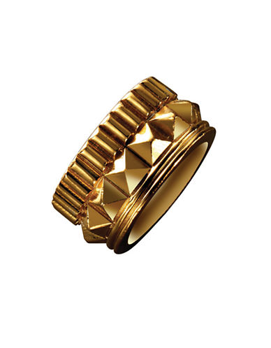 Waterford Wedgwood Rebel Gracie Studded Ring-GOLD-6.5