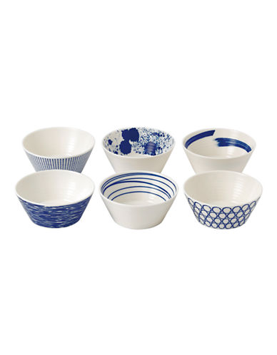 Royal Doulton Pacific Tapas Bowls Mixed Set of 6-BLUE-One Size