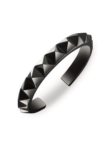 Waterford Wedgwood Rebel Ella B Gunmetal Stud Cuff Bracelet-DARK GREY-One Size