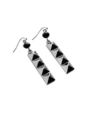 Waterford Wedgwood Rebel Ella B Gunmetal Drop Earrings-DARK GREY-One Size