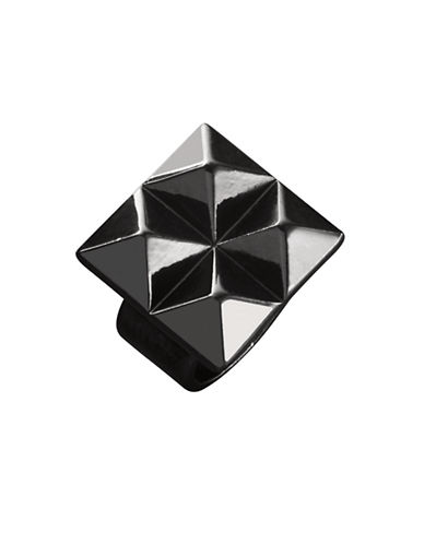 Waterford Wedgwood Rebel Ella B Gunmetal Stud Ring-DARK GREY-6.5