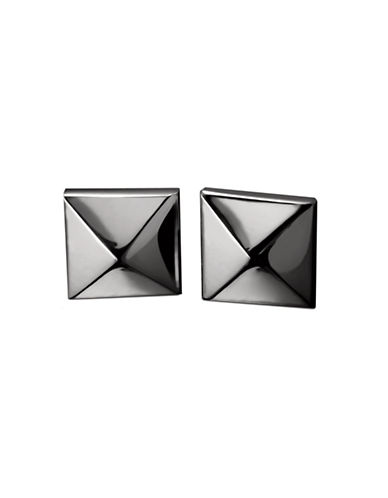 Waterford Wedgwood Rebel Ella B Gunmetal Single Stud Earrings-DARK GREY-One Size