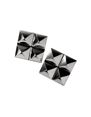 Waterford Wedgwood Rebel Ella B Gunmetal Four Stud Earrings-DARK GREY-One Size