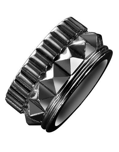 Waterford Wedgwood Rebel Gracie Gunmetal Studded Ring-DARK GREY-6.5