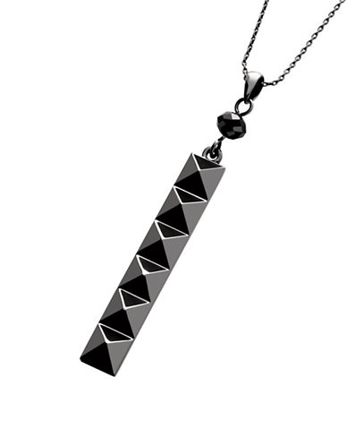 Waterford Wedgwood Rebel Ella B Gunmetal Stud Pendant-DARK GREY-One Size