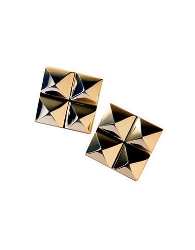 Waterford Wedgwood Rebel Ella B Gold Four Stud Earrings-GOLD-One Size