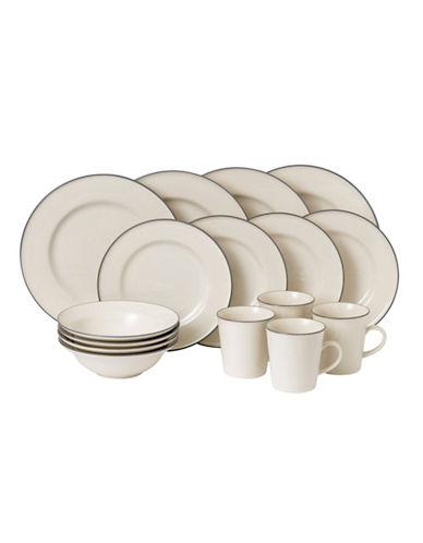 Gordon Ramsay Union Street Cream 16-Piece Dining Set-CREAM-One Size