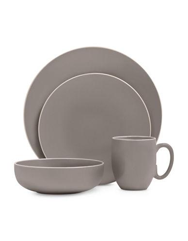 Vera Wang 16-Piece Dinnerware Set-GREY-One Size