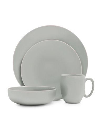 Vera Wang 16-Piece Dinnerware Set-TEAL-One Size