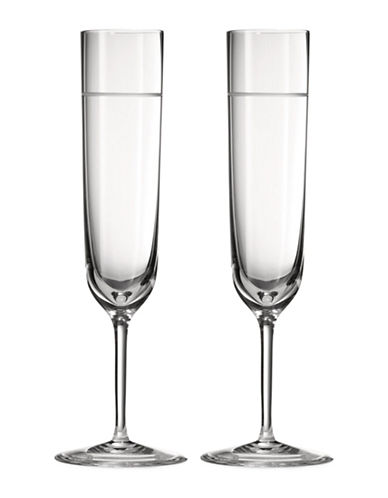 Vera Wang Two-Piece Vera Bande Flute Set-CLEAR-One Size