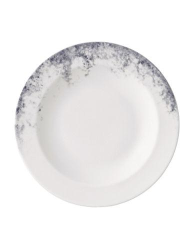 Vera Wang 9-Inch Pointilliste Rim Soup Plate-GREY-One Size