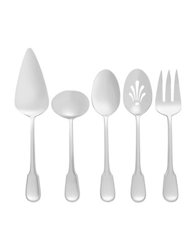 Vera Wang Surrey Five-Piece Serving Set-STAINLESS STEEL-One Size