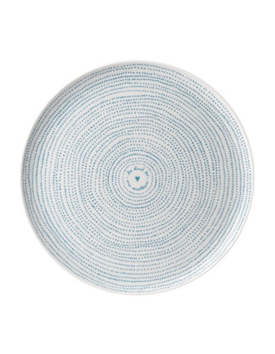 Ed Ellen Degeneres Crafted by Royal Doulton Polar Blue Dots Serving Platter-BLUE-One Size