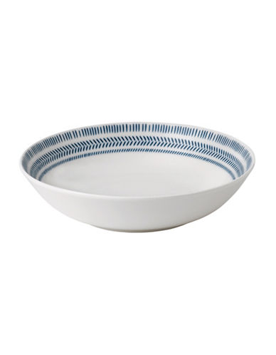 Ed Ellen Degeneres Crafted by Royal Doulton Dark Blue Chevron Pasta Bowl-BLUE-One Size