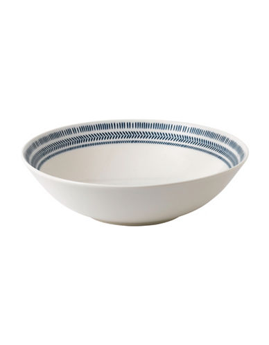 Ed Ellen Degeneres Crafted by Royal Doulton Dark Blue Chevron Serving Bowl-BLUE-11