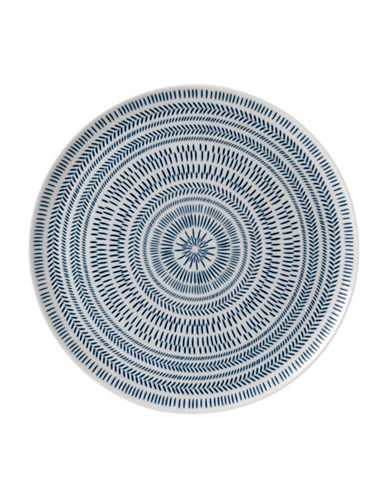 Ed Ellen Degeneres Crafted by Royal Doulton Dark Blue Chevron Serving Platter-BLUE-One Size