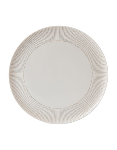 Ed Ellen Degeneres Crafted by Royal Doulton Taupe Stripe Serving Platter-TAUPE-One Size