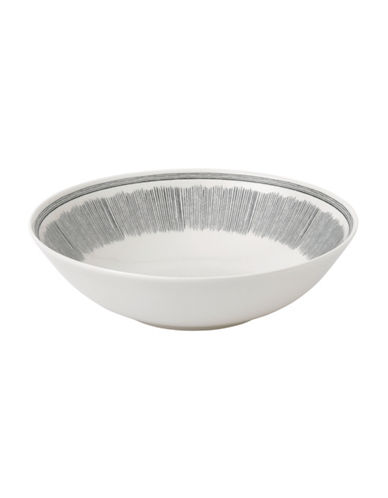Ed Ellen Degeneres Crafted by Royal Doulton Grey Lines Serving Bowl-GREY-One Size