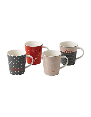 Ed Ellen Degeneres Crafted by Royal Doulton Four-Piece Signature Accents Mixed Mugs Set-ASSORTED-One Size