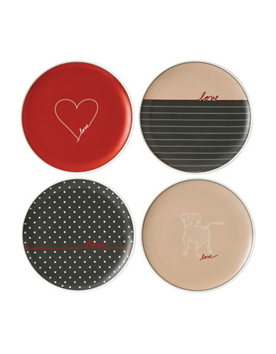 Ed Ellen Degeneres Crafted by Royal Doulton Four-Piece 8-Inch Signature Accents Mixed Plates Set-ASSORTED-8