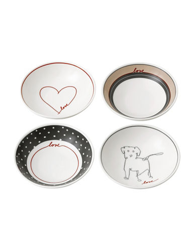 Ed Ellen Degeneres Crafted by Royal Doulton Four-Piece 5.5-Inch Signature Accents Mixed Bowls Set-ASSORTED-One Size