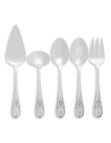 Vera Wang Harrow Five-Piece Serving Set-STAINLESS STEEL-One Size
