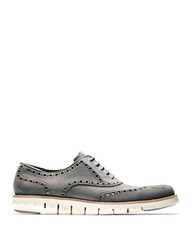 Cole Haan ZeroGrand Wingtip Oxford Shoes-GREY-13