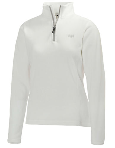 Helly Hansen Daybreaker Half-Zip Fleece Pullover-WHITE-Medium