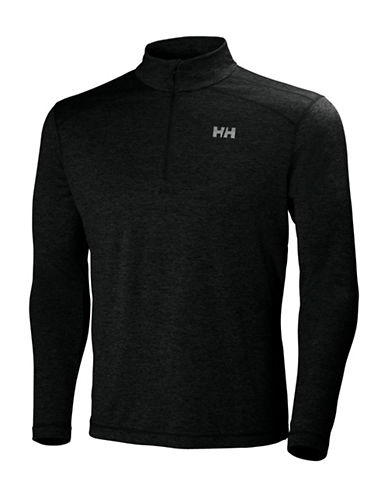 Helly Hansen Half-Zip Training Top-BLACK HEATHER-Small 88589513_BLACK HEATHER_Small
