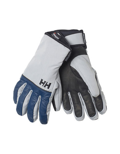 Helly Hansen Rogue HellyTech Leather Gloves-BLUE/GREY-Small