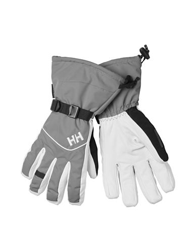 Helly Hansen Journey HellyTech Leather Gloves-GREY-Large