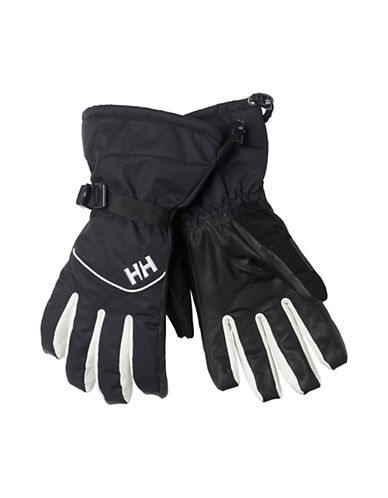 Helly Hansen Journey HellyTech Leather Gloves-BLACK-Small