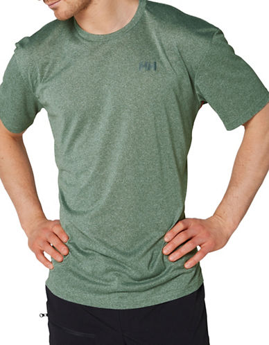 Helly Hansen Sigel Logo Short Sleeve Tee-GREEN-Large 89002945_GREEN_Large