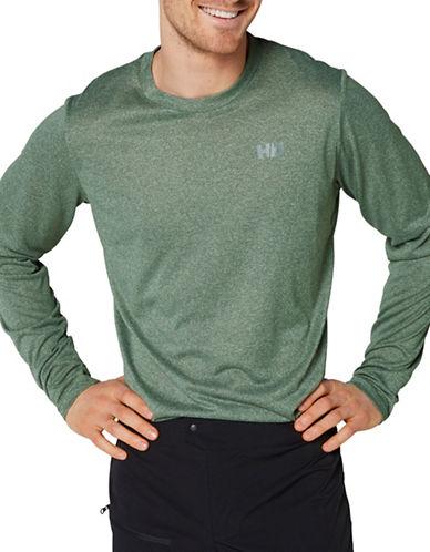 Helly Hansen Sigel Logo Long Sleeve T-Shirt-GREEN-Medium 89002959_GREEN_Medium