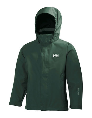 Helly Hansen Jr. Seven Rain Jacket-GREEN-12