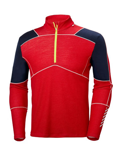 Helly Hansen Lifa Half Zip Baselayer Top-RED/BLACK-XX-Large